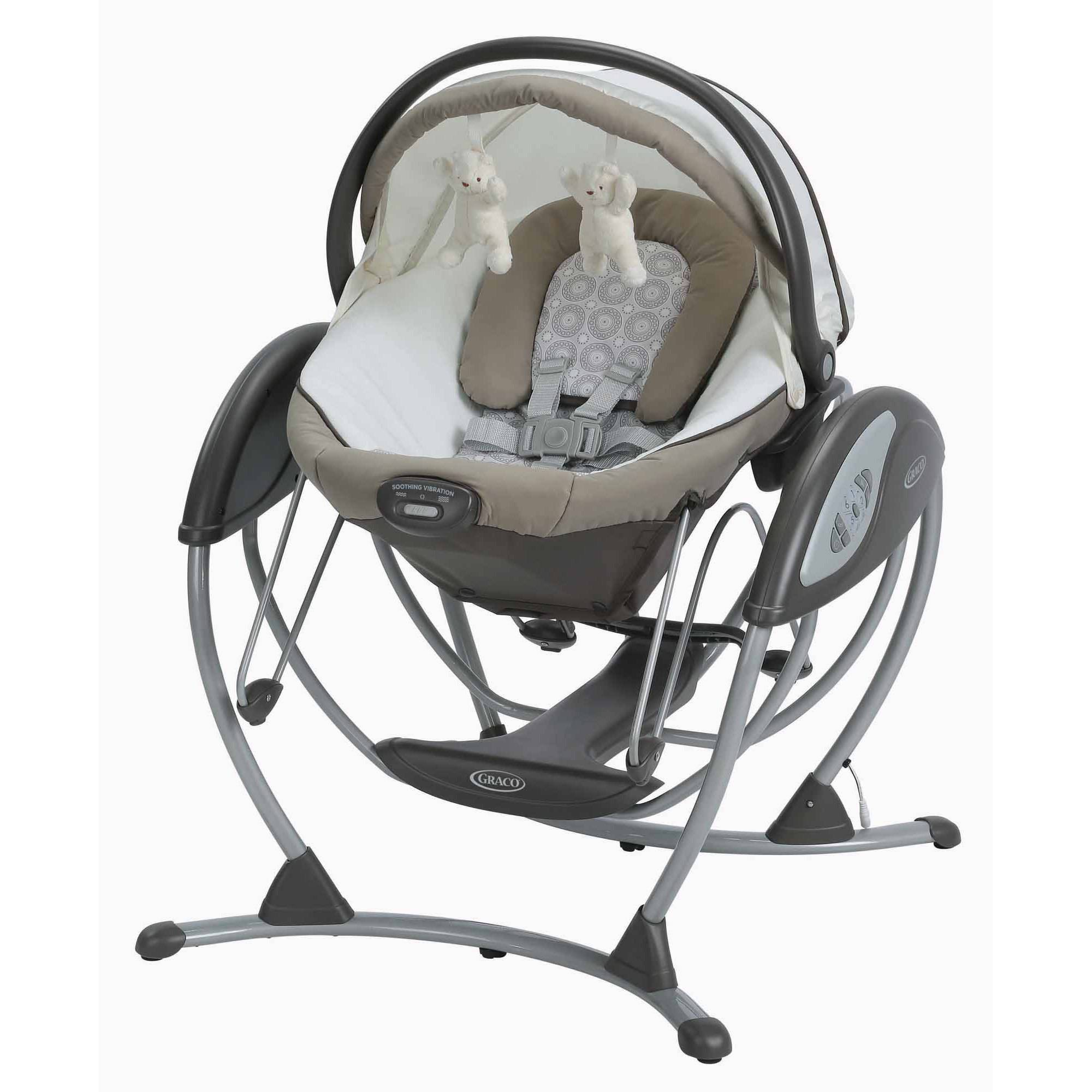 Graco Soothing System Glider Baby Swing, Abbington