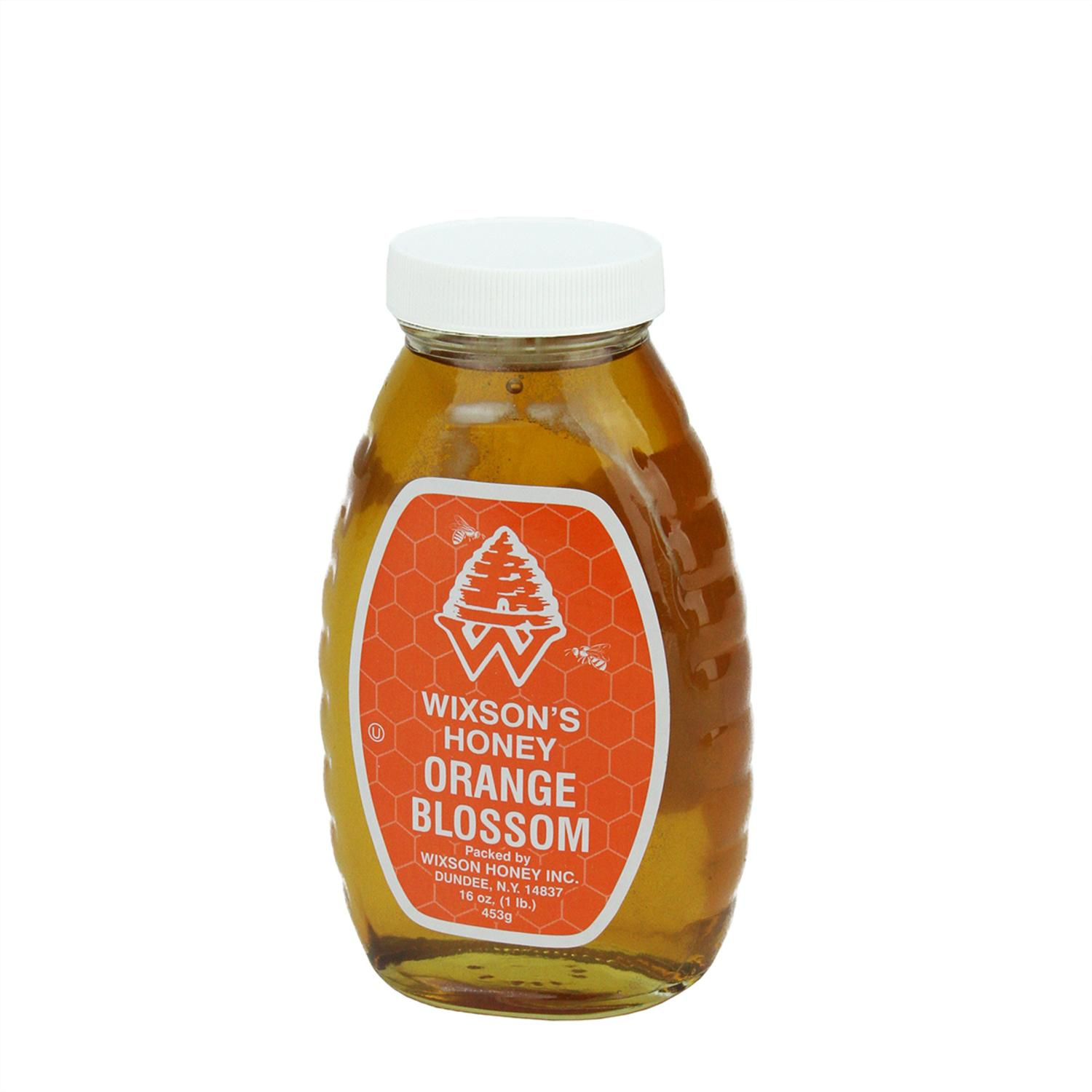1 Pound of WNY's Wixson's Orange Blosson Honey in Classic Glass Jar