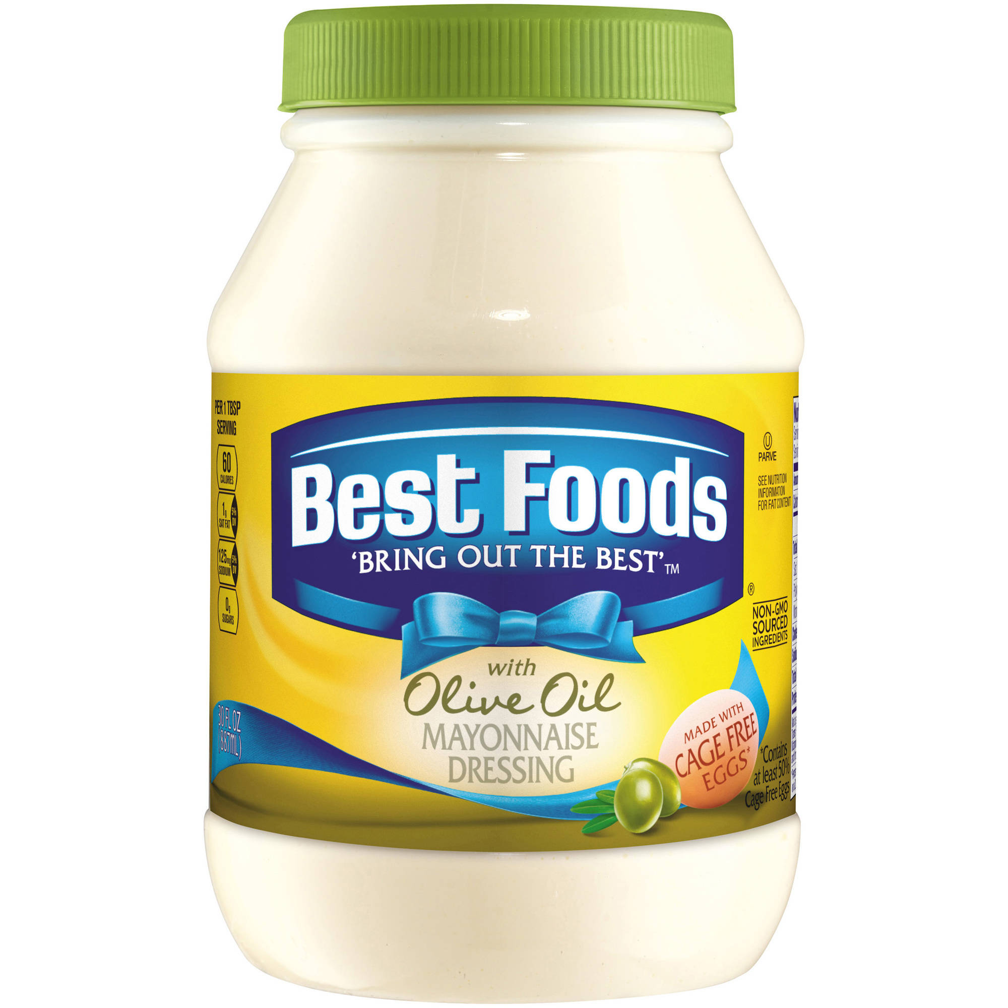 Best Foods with Olive Oil Mayonnaise Dressing, 30 oz