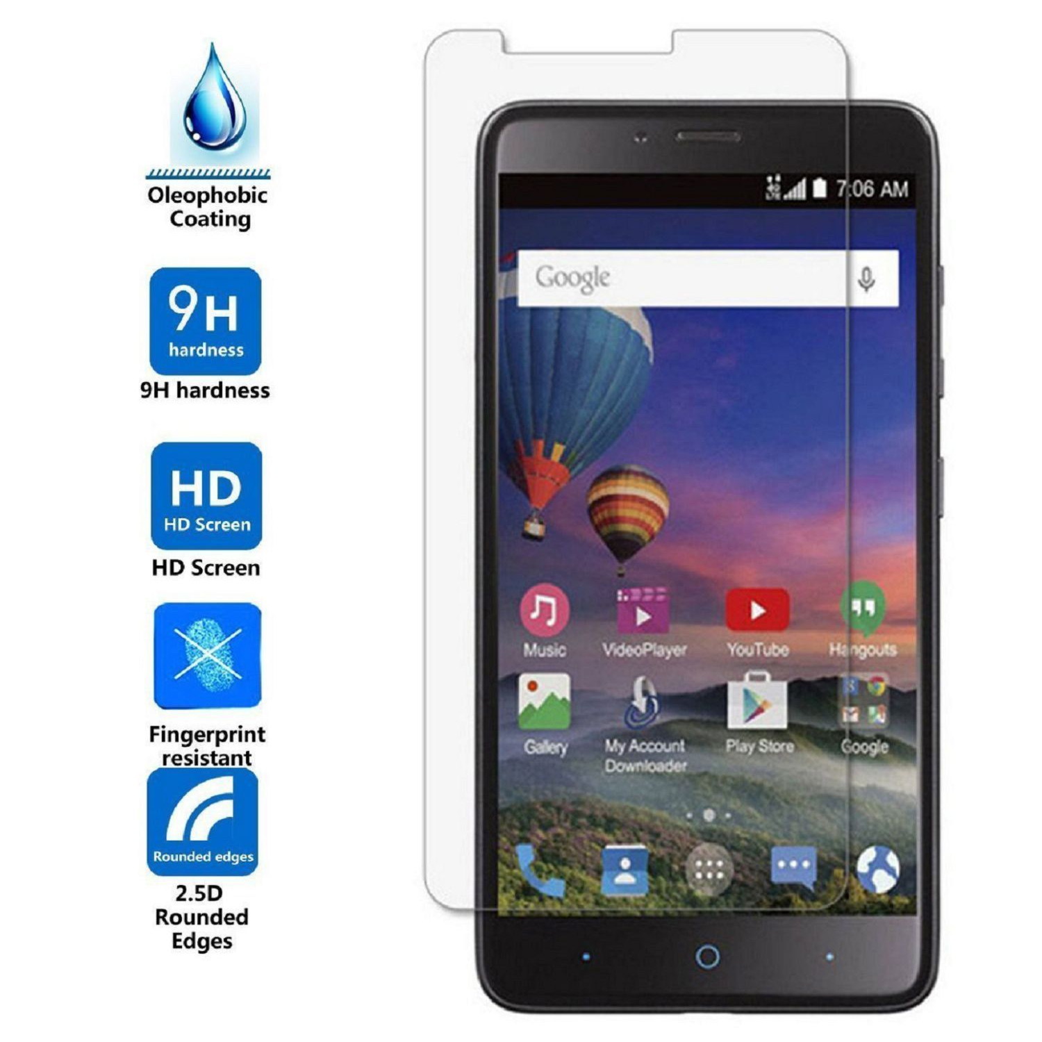 Arc® ZTE Zmax Pro; Z981 Tempered Glass Screen Protector