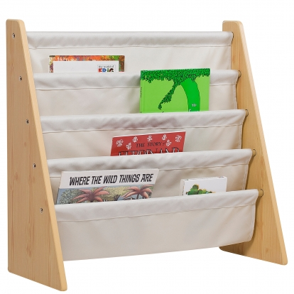 Wildkin Sling Book Shelf - Natural w/ Tan