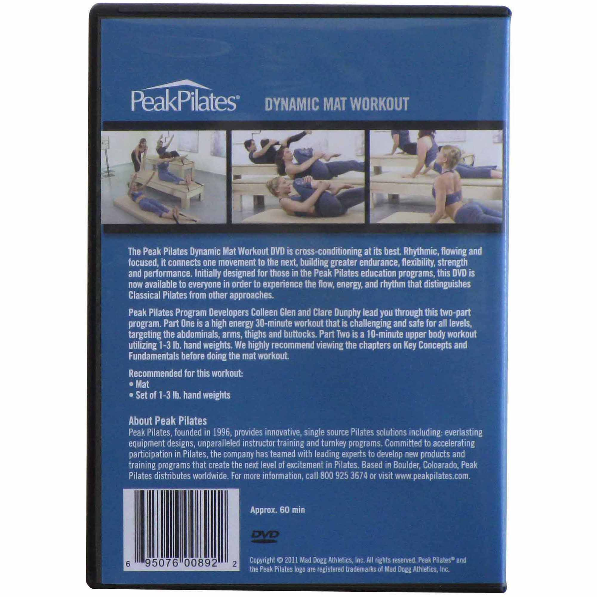 Peak Pilates Dynamic Mat Workout DVD