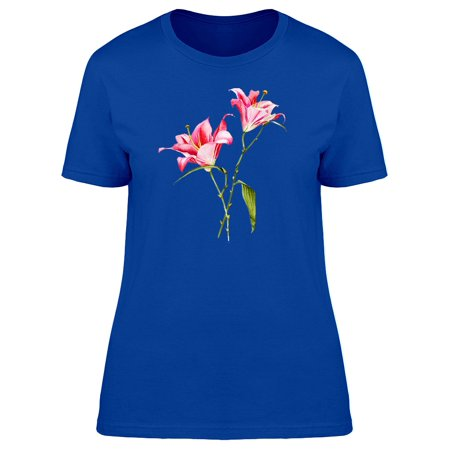 Two Lilia Flowers Tee Women's -Image by Shutterstock