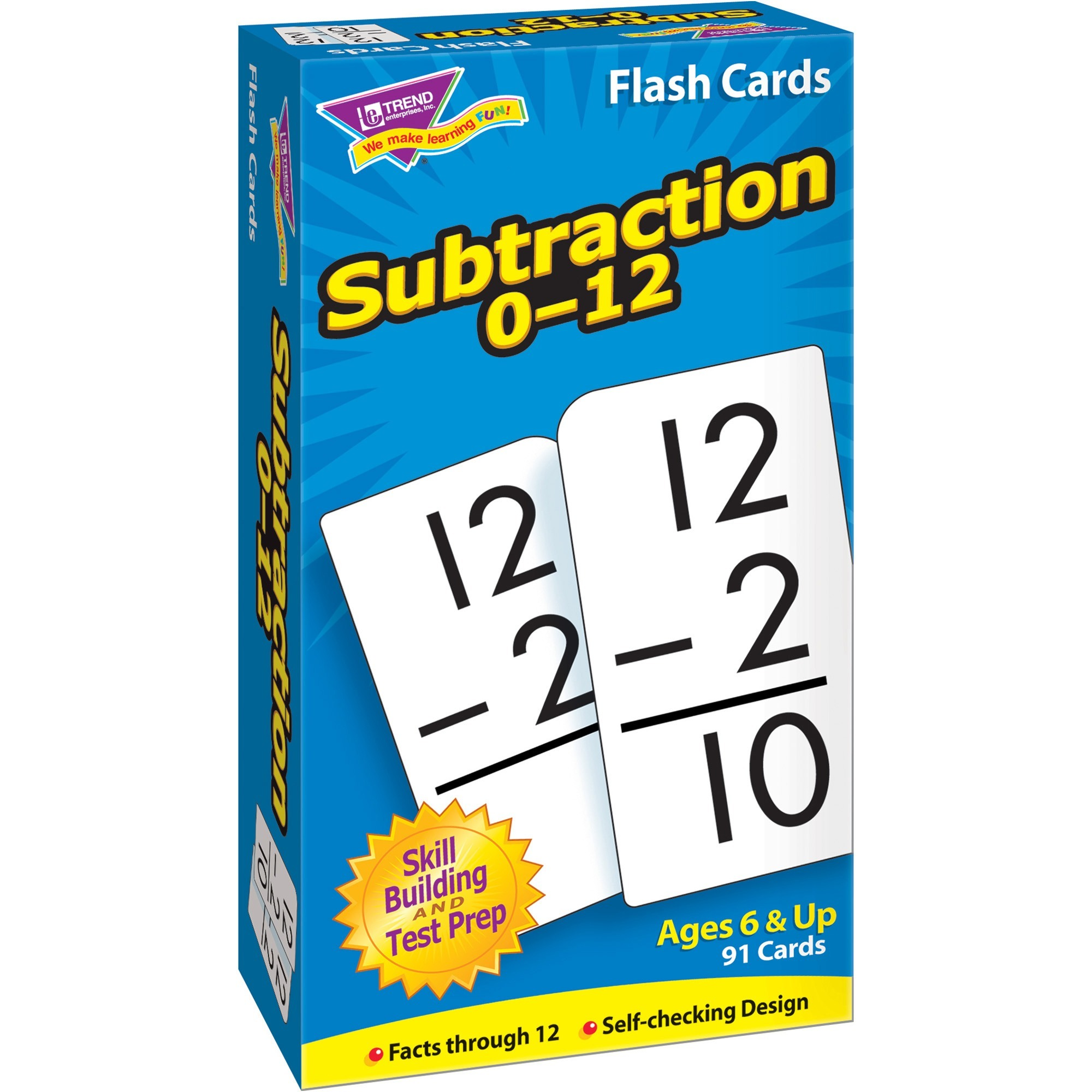Trend, TEPT53103, Math Flash Cards, 1 / Box