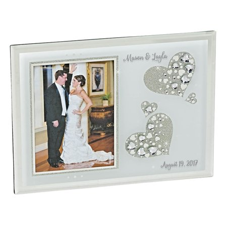 Personalized Wedding Frame - Sparkling Hearts