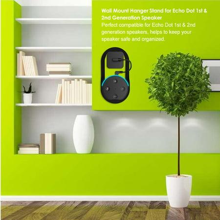 Wall Mount Hanger Stand for Echo Dot 1st & 2nd Speaker Home Holder in Living Bathrooms Studying Room Black - image 3 of 7