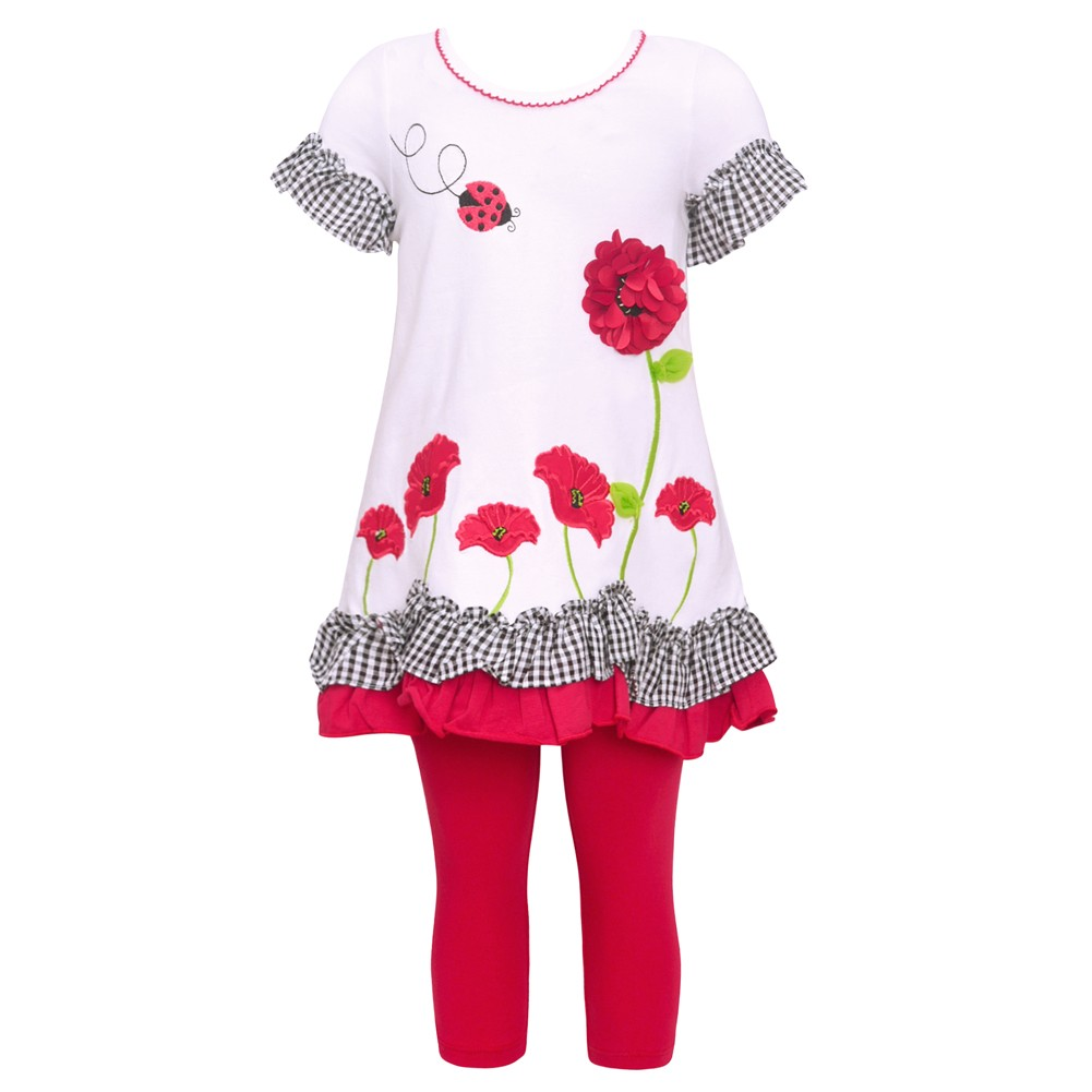 NWT BONNIE BABY 2pc SET OUTFIT Black//Pink Top//Leggings Girl 18M *44