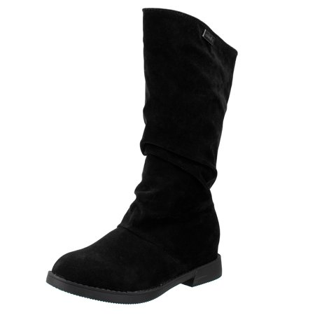 Slouch Riding Boots - Meigar Womens Winter Warm Shoes Riding Boots Slouch Flat Heel Boot Hot Stylish Shoes