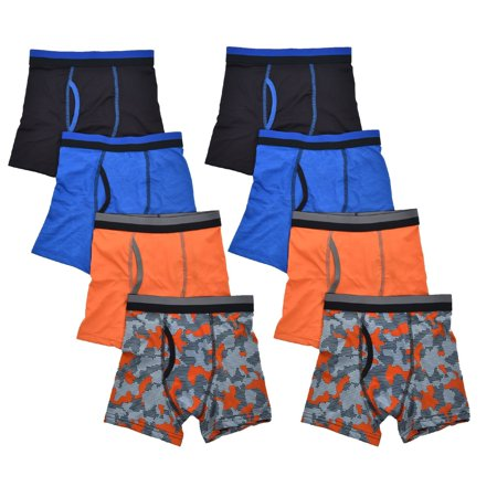 Vest Boxer (Print Boxer Brief, 8 Pack (Little Boys & Big Boys))
