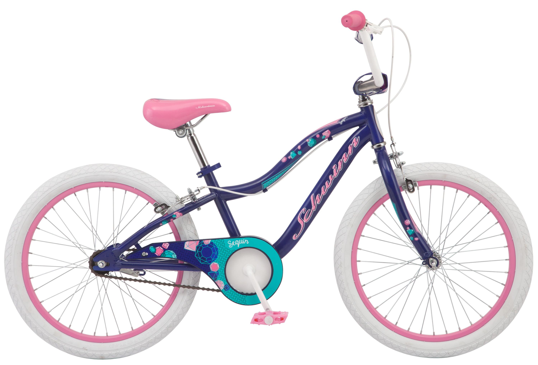 Schwinn Sequin kids bike, 20-inch wheel, single speed, girls, blue by Pacific Cycle