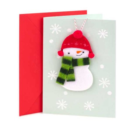 Hallmark Signature Christmas Card (Handmade Snowman Ornament) ()