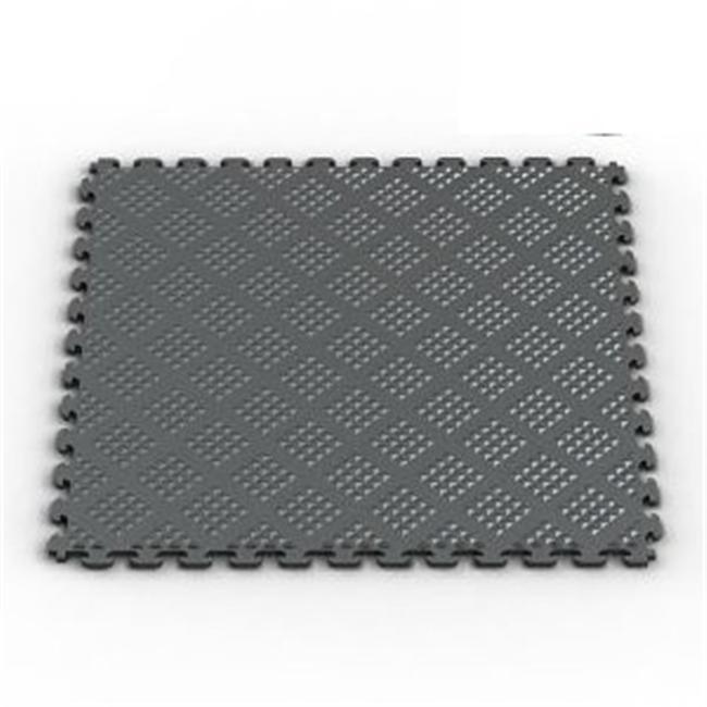 Norsk-Stor NSMPRD6MG Raised Diamond Multi-Purpose PVC Flooring- 6-Pack- Metallic Graphite