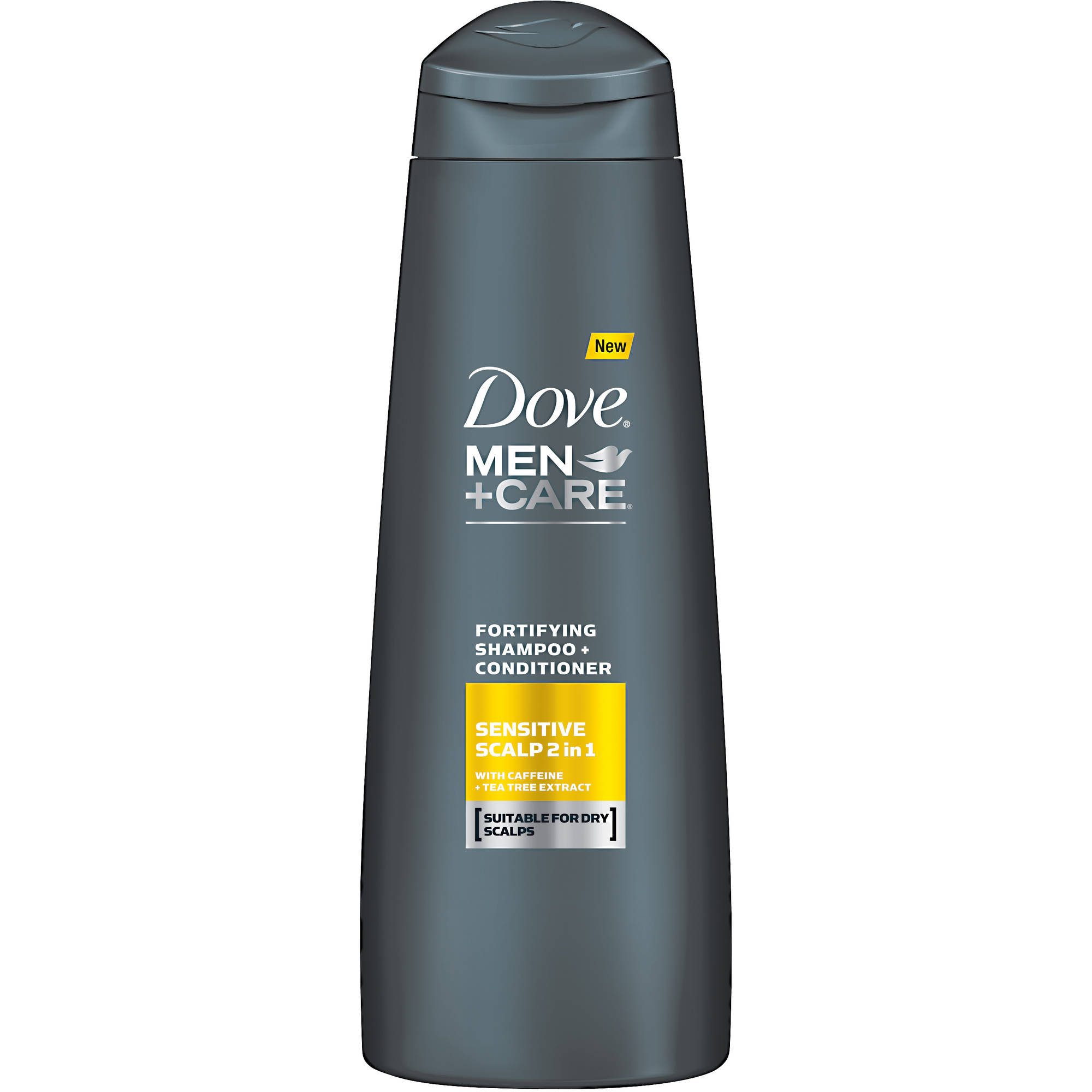 Dove Men+Care Sensitive Scalp with Caffeine Fortifying 2 in 1 Shampoo + Conditioner, 12 oz
