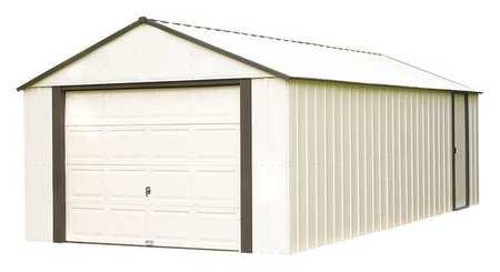 ARROW SHEDS VT1210 Outdoor Storage Shed,110 cu. ft.,Almond G2197791 by ARROW SHEDS