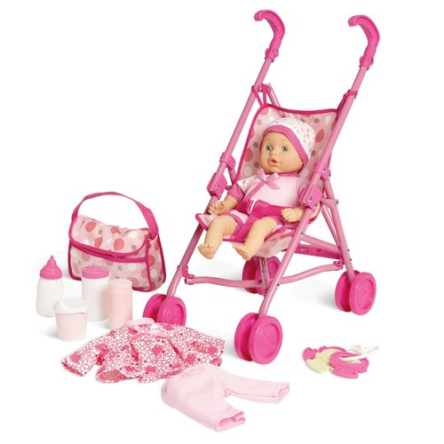 Kid Connection Baby Doll Stroller Play Set - Walmart.com