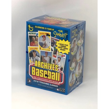 2018 Topps Archives Baseball Blaster Box (8 Packs/8 Cards, 2 Coin (Topps Football Archives The Ultimate 1956 Series)