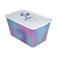 Your Zone 14 Gal / 53L Mermaid Storage Tote Box, Plastic with Lid