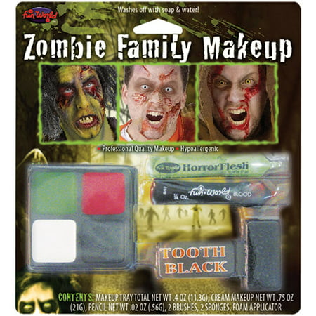 Zombie Family Makeup Halloween Accessory - Zombie Halloween Makeup Diy