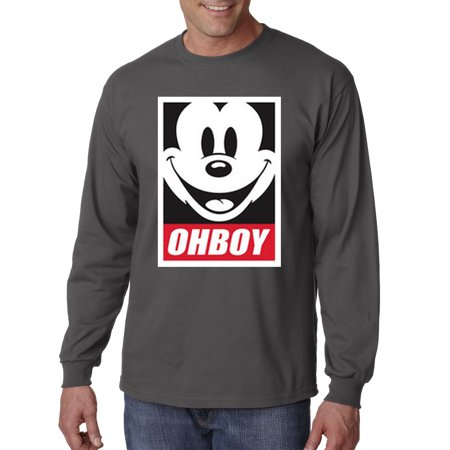 New Way 416 - Unisex Long-Sleeve T-Shirt Oh Boy Mickey Mouse Face Anonymous