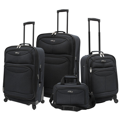 U.S. Traveler Fashion 4 Piece Luggage Set