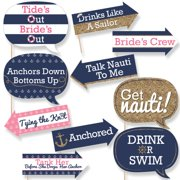 funny last sail before the veil nautical bridal shower bachelorette party photo booth props
