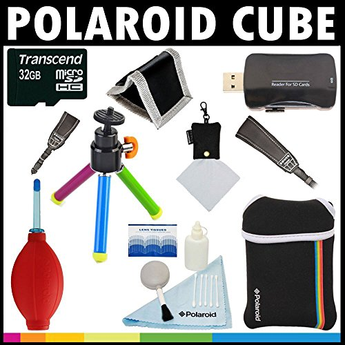 Polaroid Premium ESSENTIAL KIT For The Polaroid Cube Video Action Camera Great Holiday Add On Gift by Polaroid