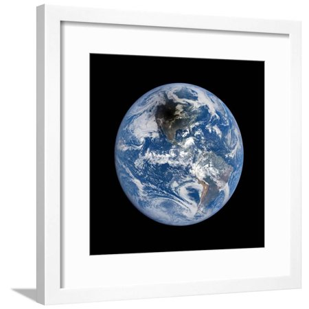 Shadow Cast by 2017 Total Solar Eclipse Framed Print Wall Art