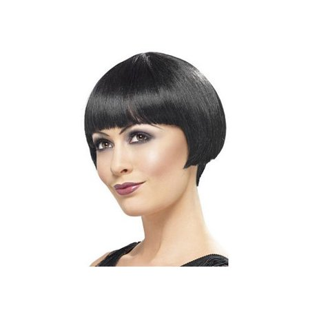 1920 Flapper Bob Wig 42001 Smiffy's Black One Size Fits All, One Size Fits All - Flapper Wig