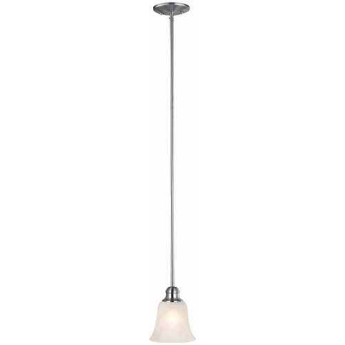 Design House 519439 Ridgeway Mini Pendant Light, Satin Nickel Finish