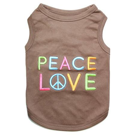 Love Peg - Parisian Pet Dog Clothes PEACE LOVE T-Shirt