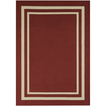 Mainstays Frame Border High Low Loop Olefin Area Rug or Runner ()