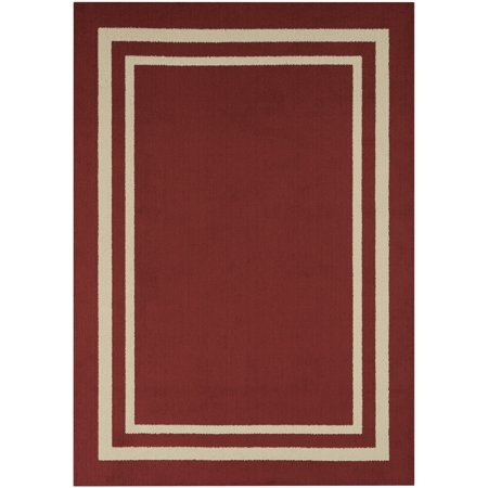 (Mainstays Frame Border Area Rug or Runner, Multiple Sizes and Colors)