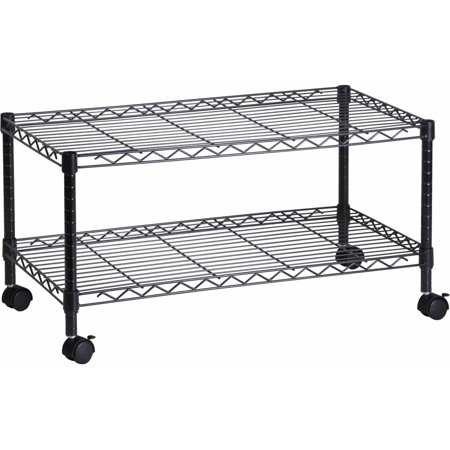 Honey Can Do Steel Media Rolling Cart with 2 Adjustable Shelves,