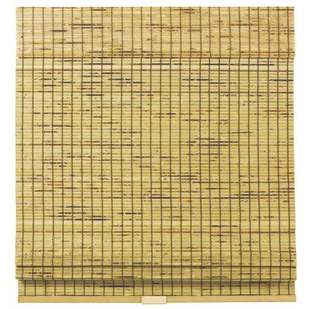 Natural Cordless Burnout Bamboo Roman Shades 46