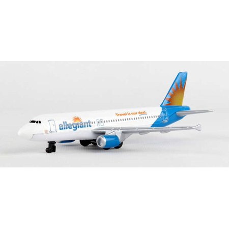 Allegiant Airlines Single Plane, White - Daron RT2324 - Diecast Model Airplane Replica