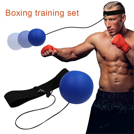 Tuscom Boxing Reflex Speed Ball Training Hand Eye Coordination to Improve Speed Reactions Boxing MMA Punching Accuracy Improvement Training Reaction Headband Fits All Kids