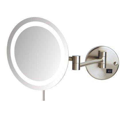 jerdon led 8x magnifying wall mount makeup mirror. Black Bedroom Furniture Sets. Home Design Ideas