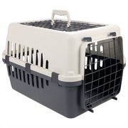 Pet Crates Carriers Kennels Small Dog Cat Two Doors Pet Carrier Kennel Portable Crate Cage 18.33 x 1