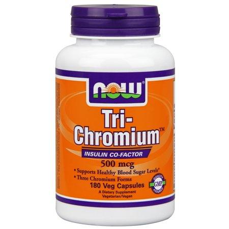 NOW Foods Tri-chrome 500 mcg + cinnam 180 capsules végétales