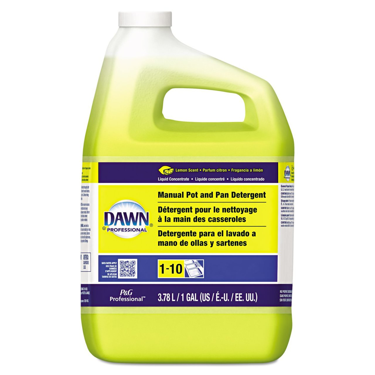 4 PACKS : Dawn 57444 Manual Pot and Pan Dish Detergent, Lemon