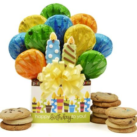 Halloween Cookie Bouquet Ideas (Birthday Candles Cookie)