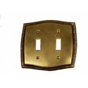 BRASS Accents Rope Double Switch Wall Plate (Set of 2)
