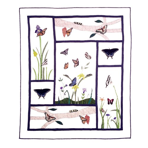 Patch Magic Butterfly Kisses Cotton Throw Quilt
