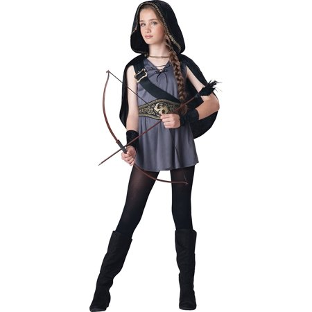 Costumes Tween Kids Hooded Huntress Costume, Grey/Silver M (10-12), Tween Costumes By InCharacter