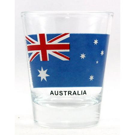 Australia Flag Shot Glass (Cheap Glasses Australia)