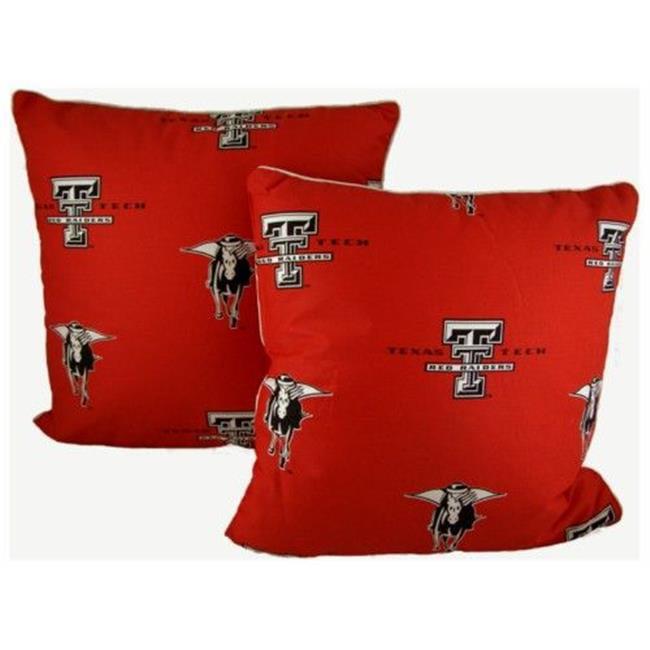 College Covers TTUDPPR Texas Tech 40 X 40 Decorative Pillow Set Unique College Decorative Pillows