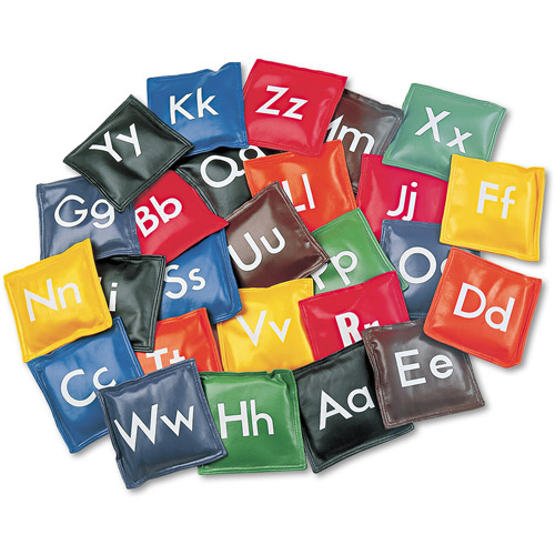 Champion Sports Alphabet Bean Bag Set, Vinyl, Assorted Colors, 26/Set