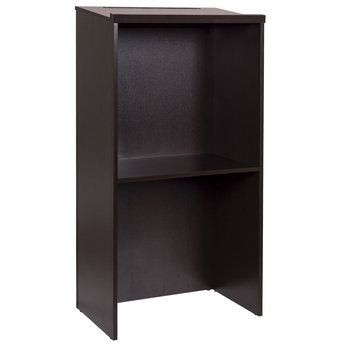 Costway Stand Up Wood Lectern Floor Standing Podium With
