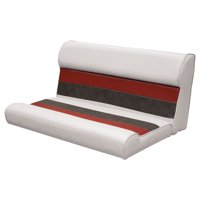 "Wise 8WD100-1009 Deluxe Series Pontoon 37"" Bench Seat and Backrest Cushion Set Only, Color: White/Red/Charcoal"