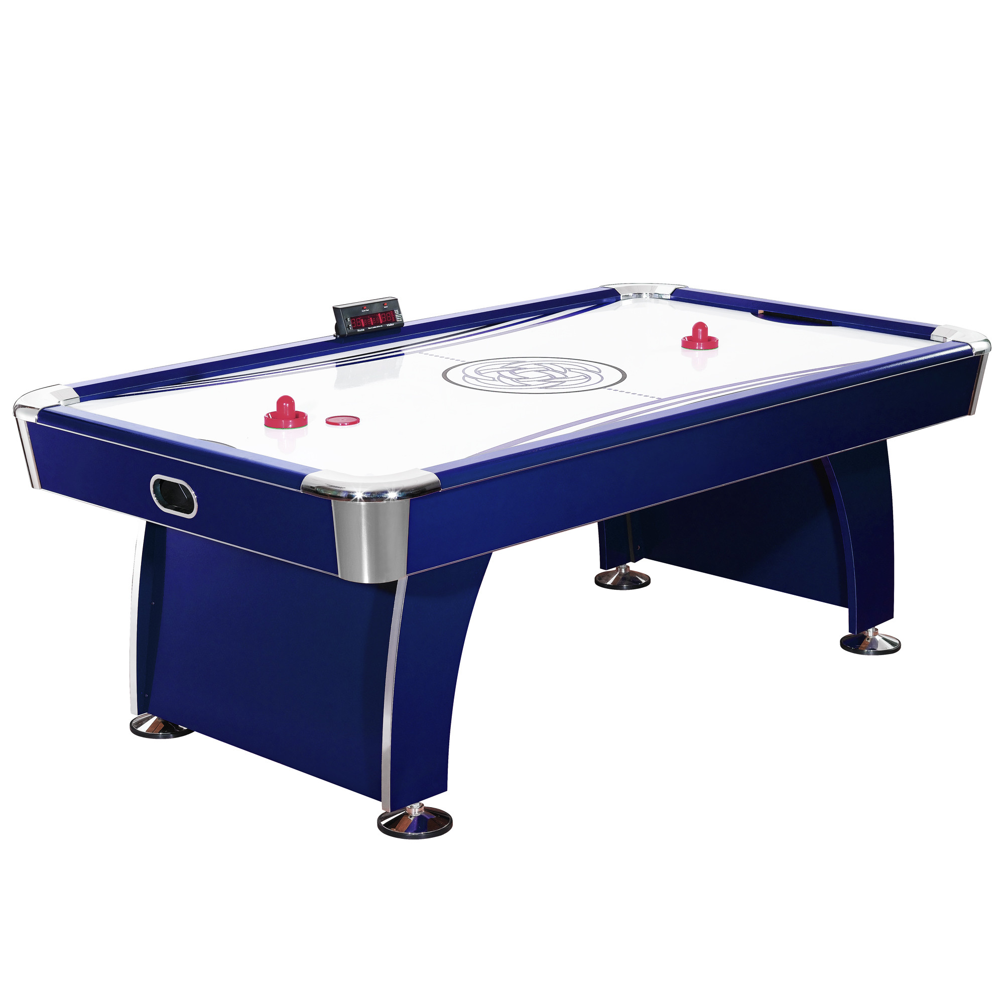 Hathaway Phantom 7.5-Foot Air Hockey Game Table with Electronic Scoring, Dual Blowers and Automatic Return